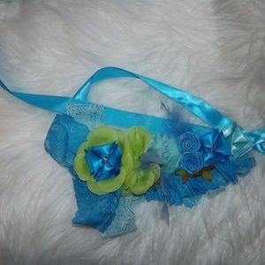 Other - TURQUOISE LACEY RIBBON HEADBAND